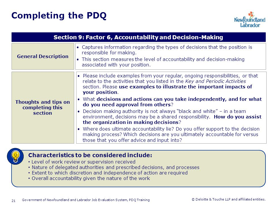 Completing the PDQ Section 10: Factor 7, Impact