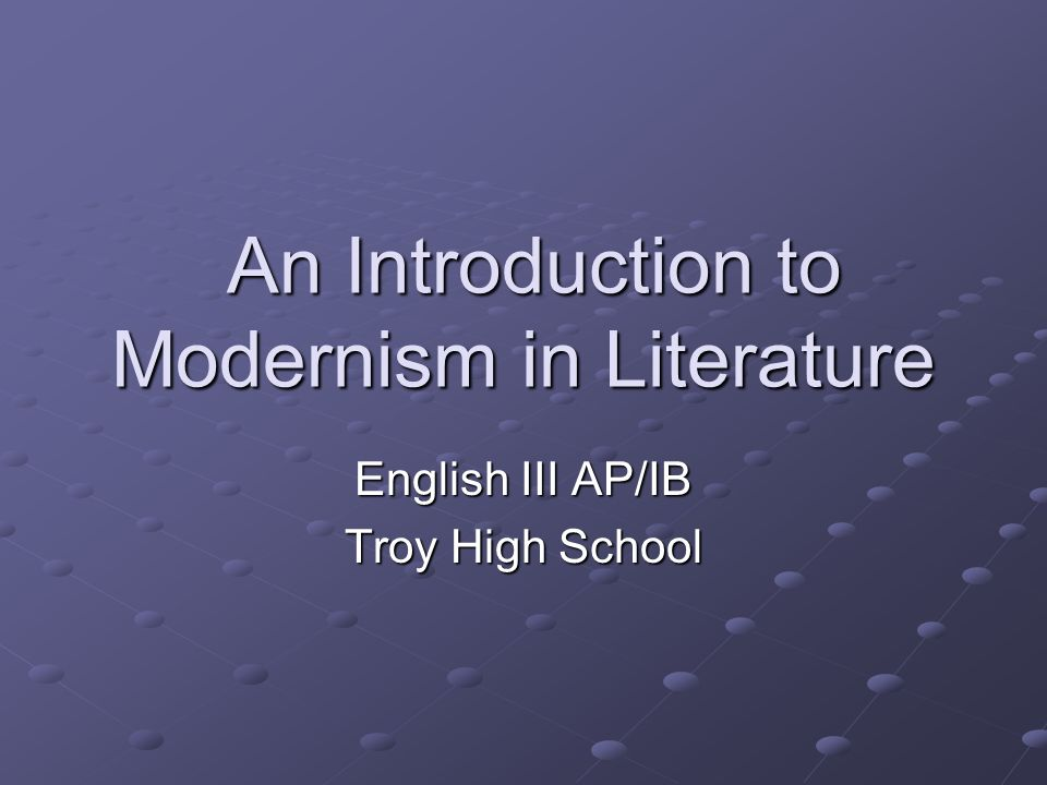An Introduction to Modernism in Literature