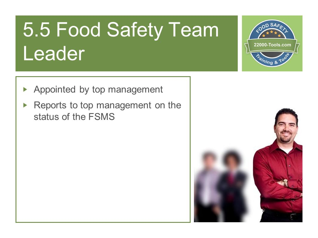 5.5 Food Safety Team Leader