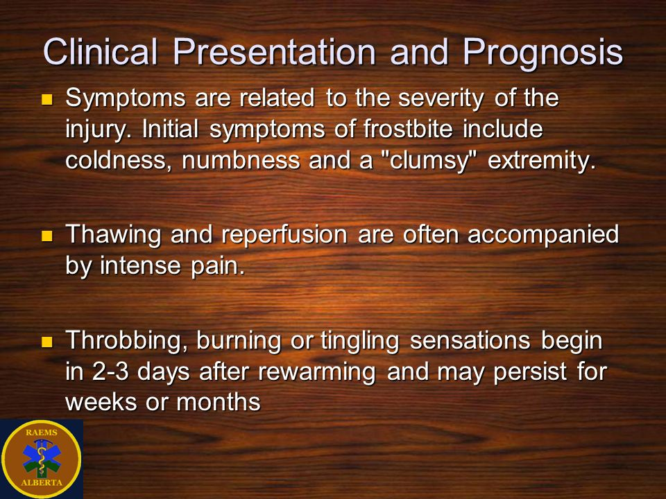Clinical Presentation and Prognosis