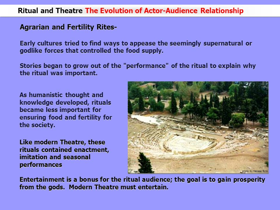 Ritual and Theatre The Evolution of Actor-Audience Relationship