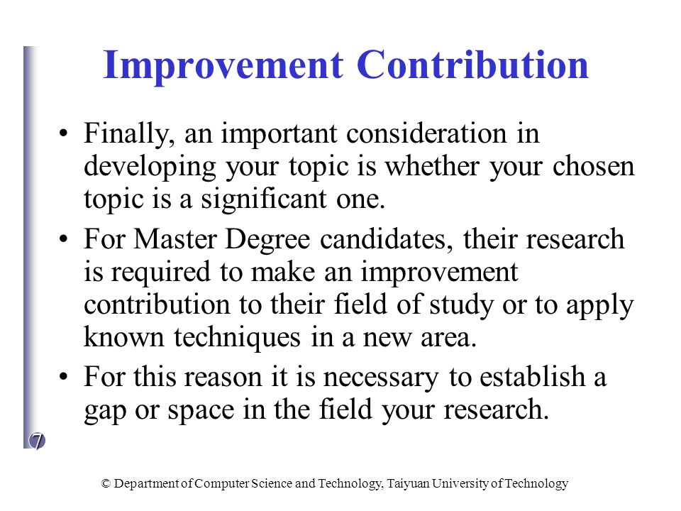 research topics for masters in computer science