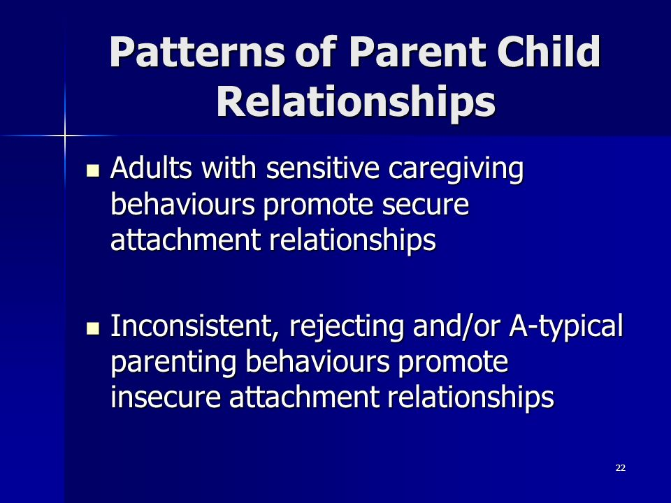 Patterns of Parent Child Relationships
