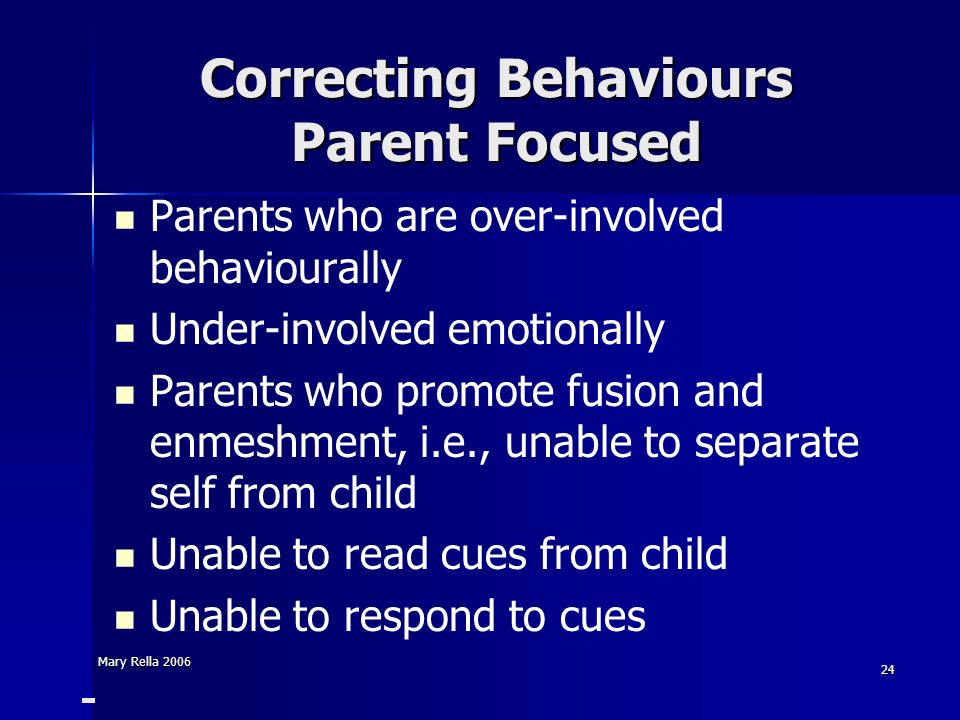 Correcting Behaviours Parent Focused