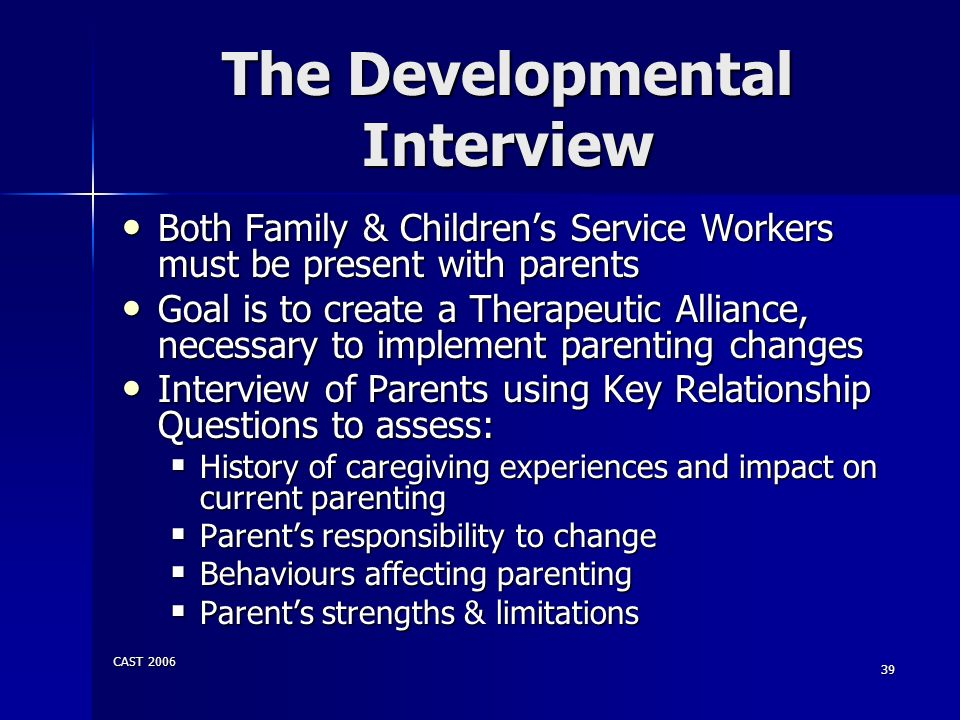 The Developmental Interview