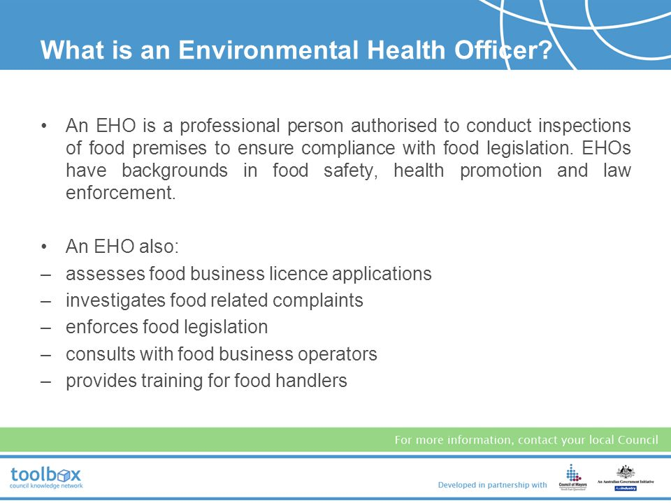 What is an Environmental Health Officer