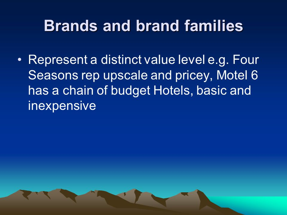 Brands and brand families