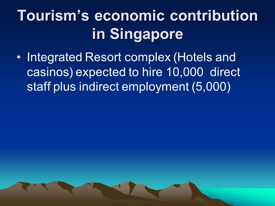 Tourism's economic contribution in Singapore
