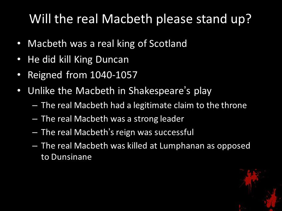 Will the real Macbeth please stand up
