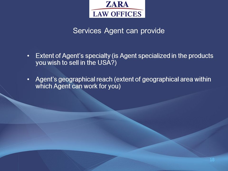 Services Agent can provide