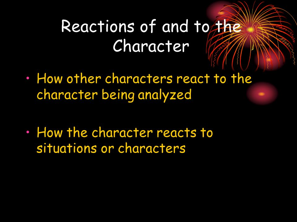 Reactions of and to the Character