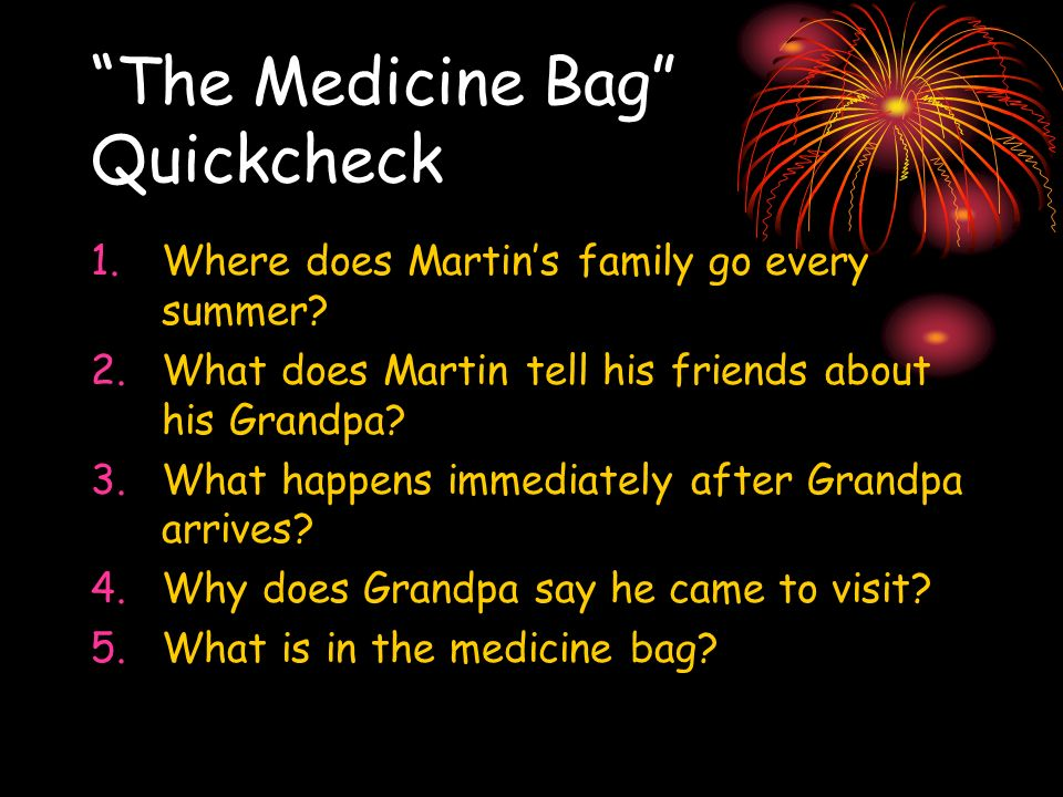 The Medicine Bag Quickcheck