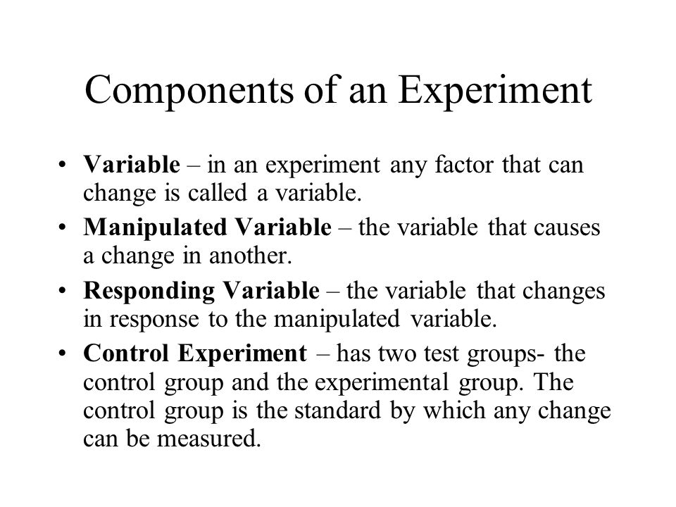 Components of an Experiment