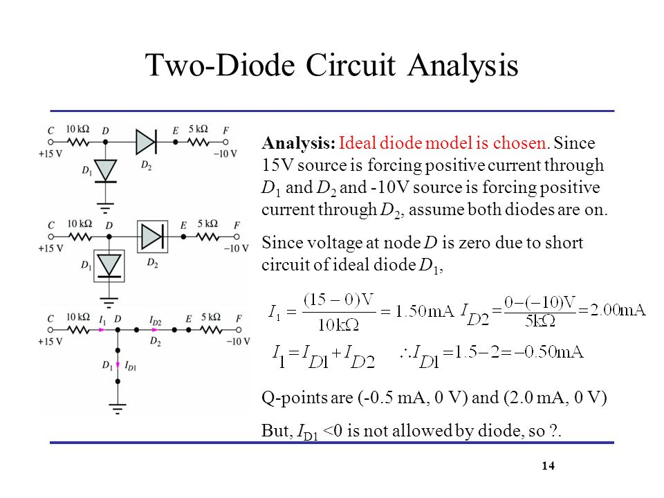 lecture 6 solid state diodes and diode circuits ppt video onlinetwo diode circuit analysis
