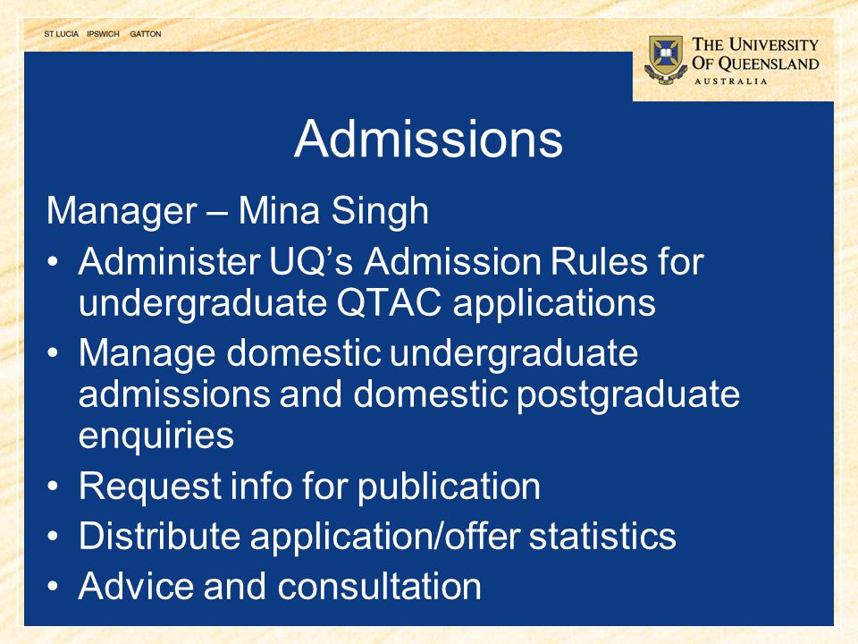 Admissions Manager – Mina Singh
