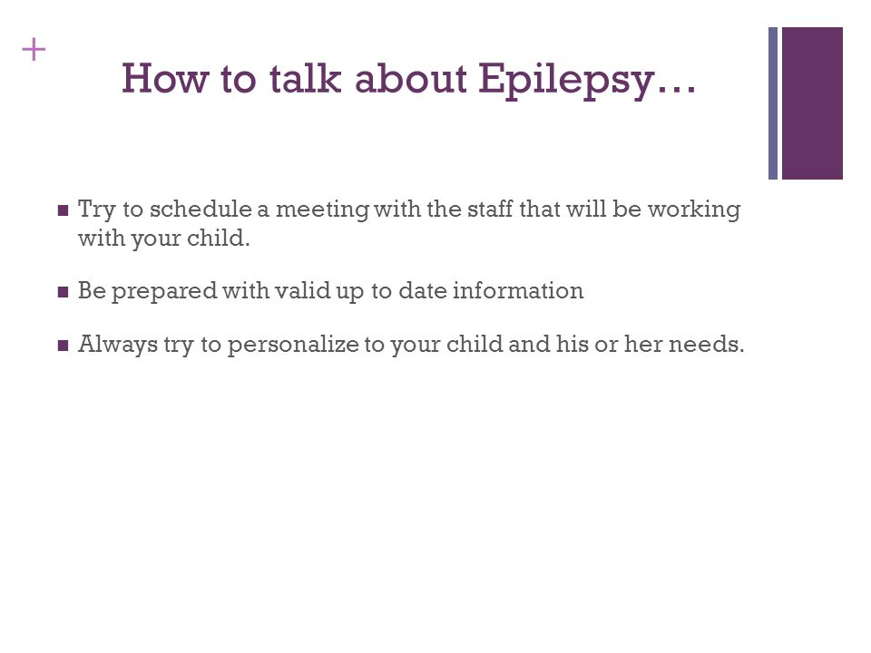 How to talk about Epilepsy…