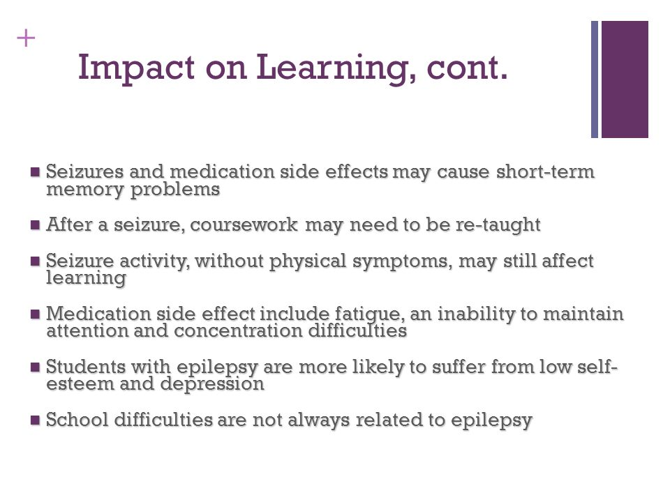 Impact on Learning, cont.