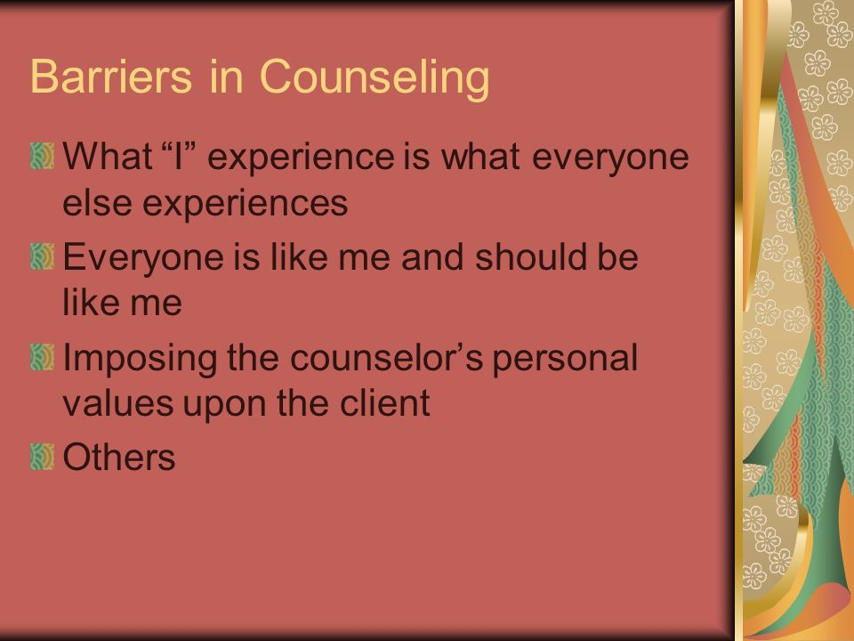 Barriers in Counseling