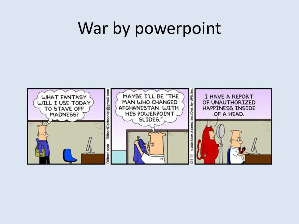 War by powerpoint