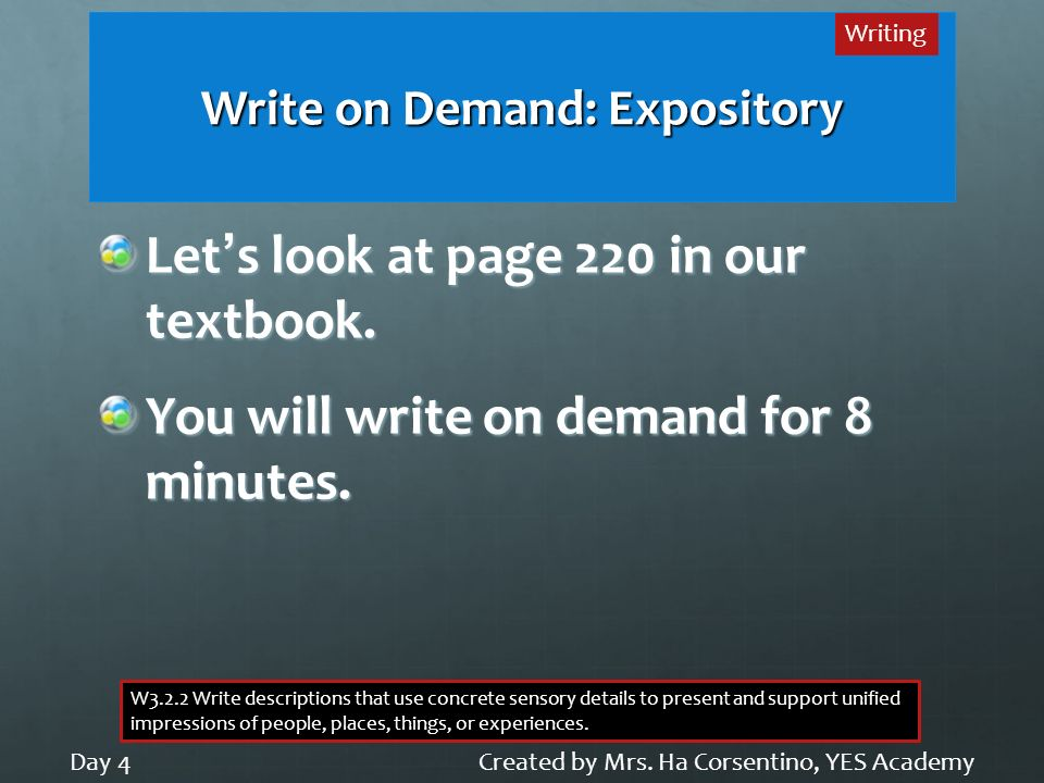 Write on Demand: Expository