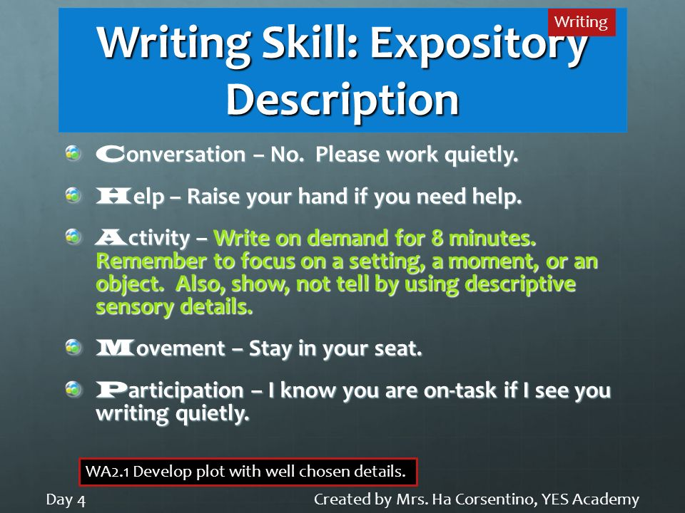 Writing Skill: Expository Description