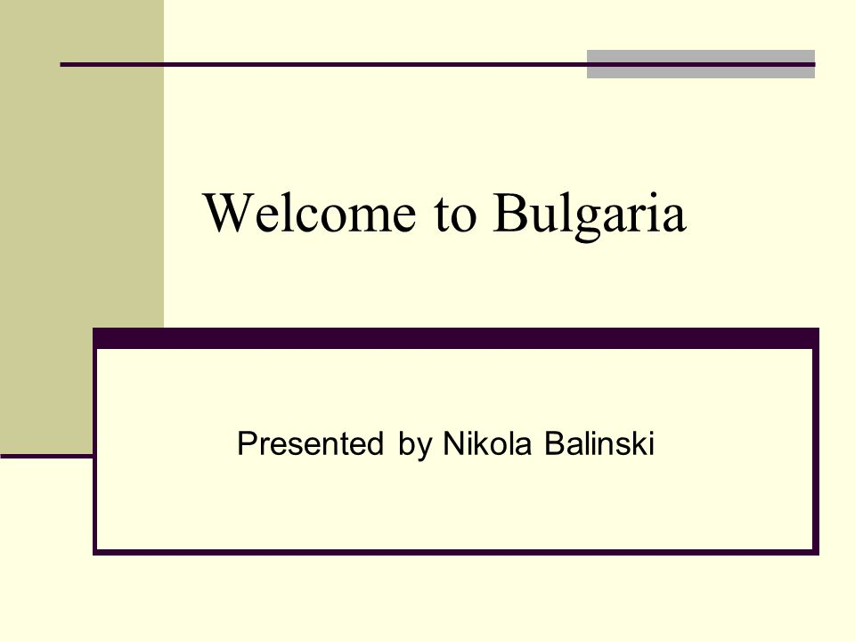 Presented by Nikola Balinski
