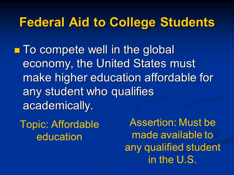 Federal Aid to College Students