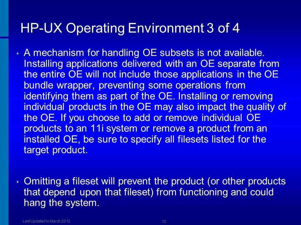 HP-UX Operating Environment 3 of 4