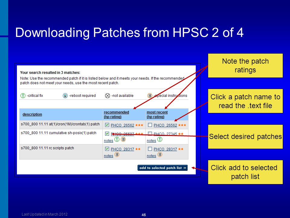 Downloading Patches from HPSC 2 of 4