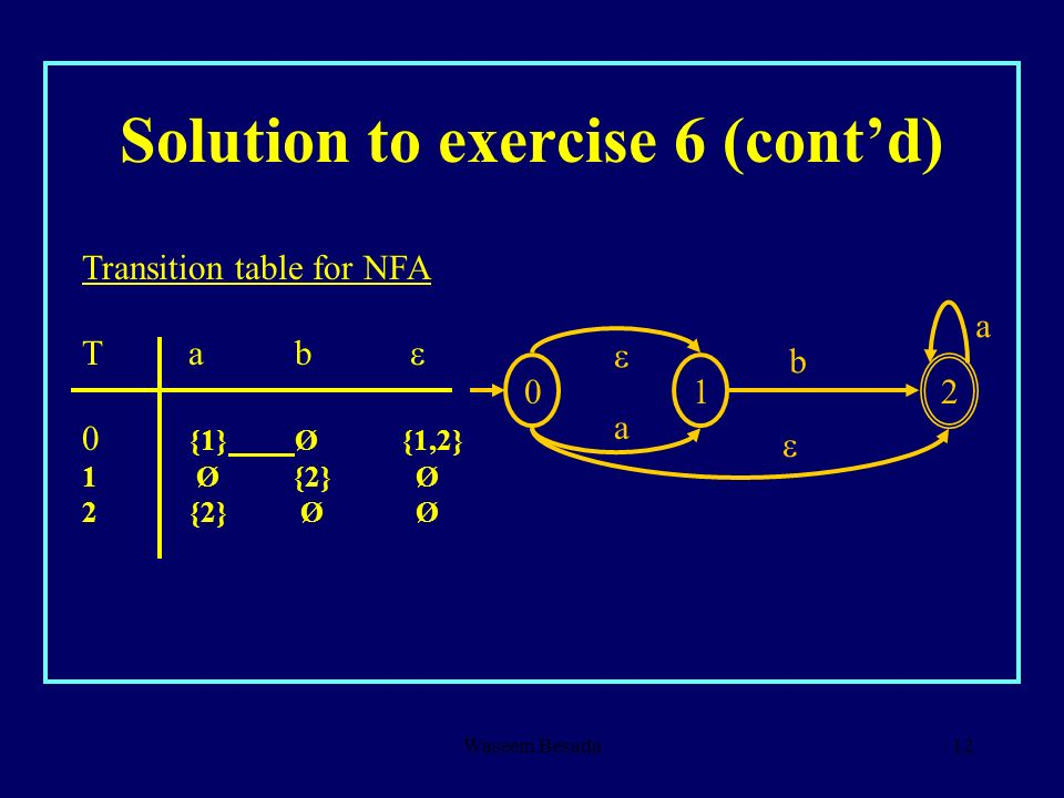 Solution to exercise 6 (cont'd)