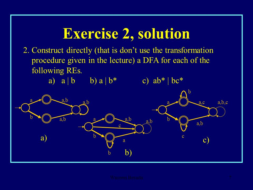 Exercise 2, solution