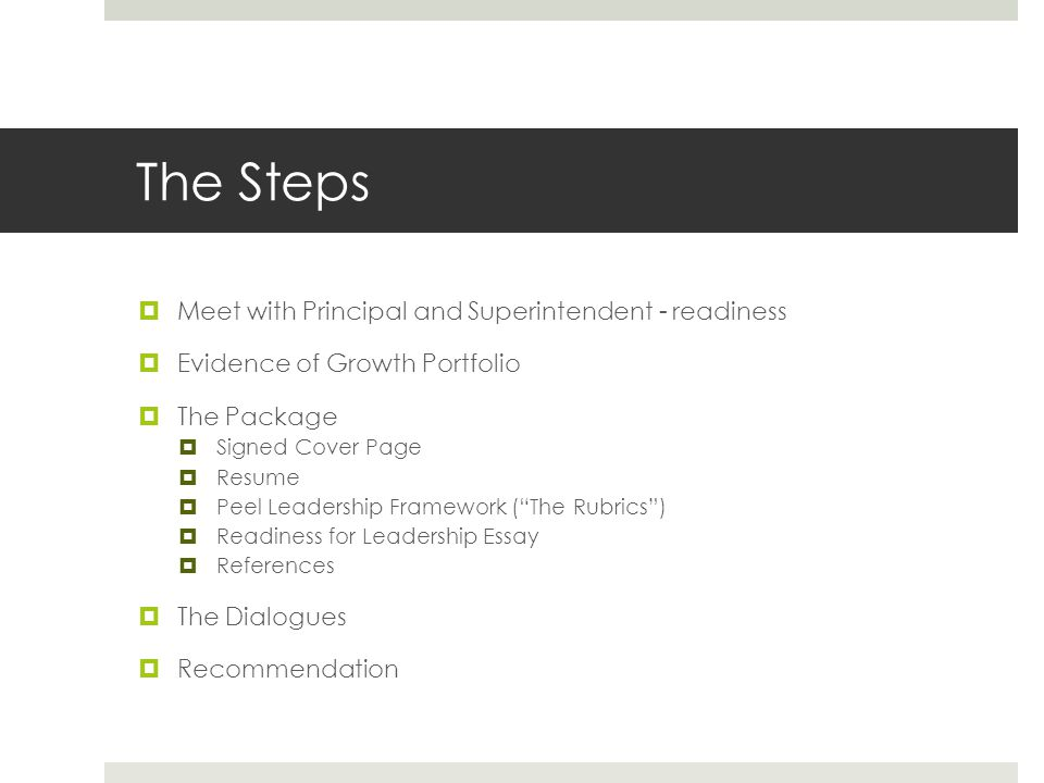 The Steps Meet with Principal and Superintendent - readiness