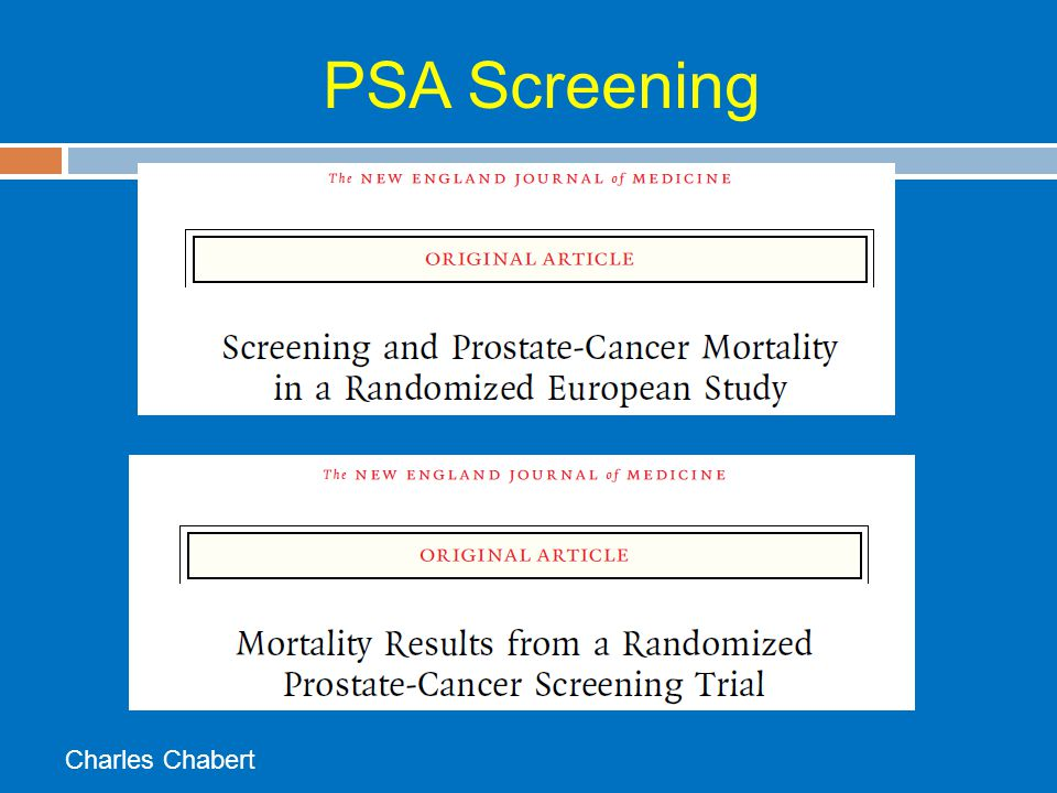 PSA Screening Charles Chabert