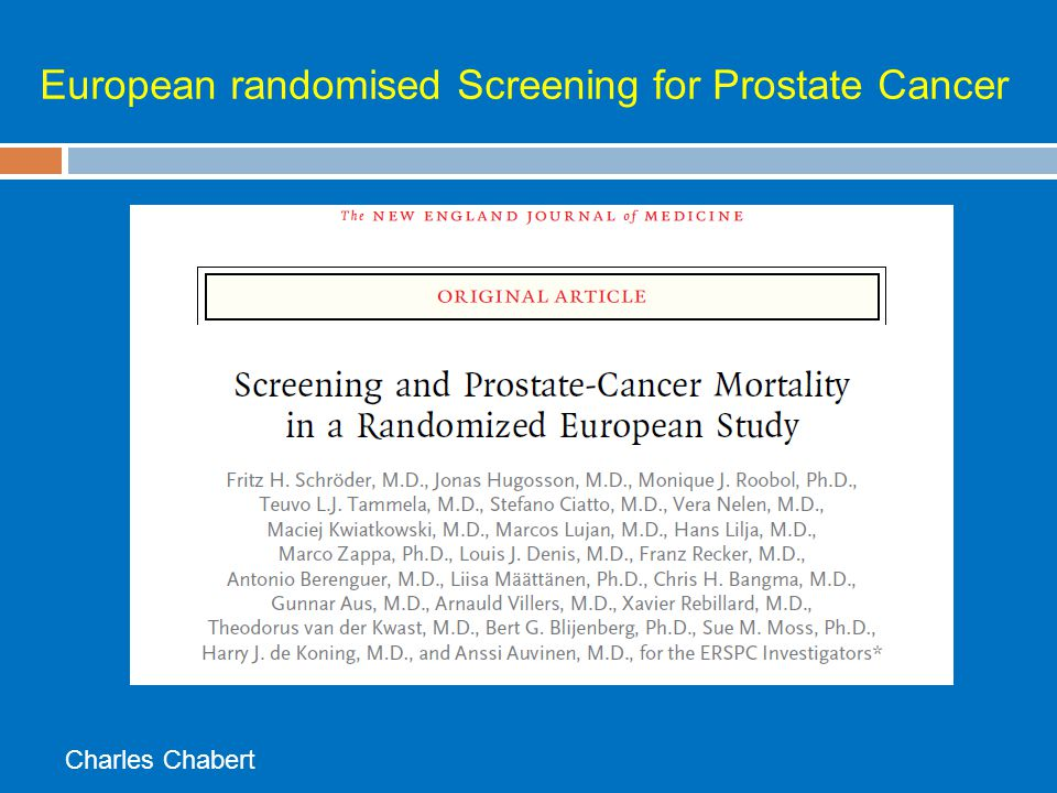 European randomised Screening for Prostate Cancer