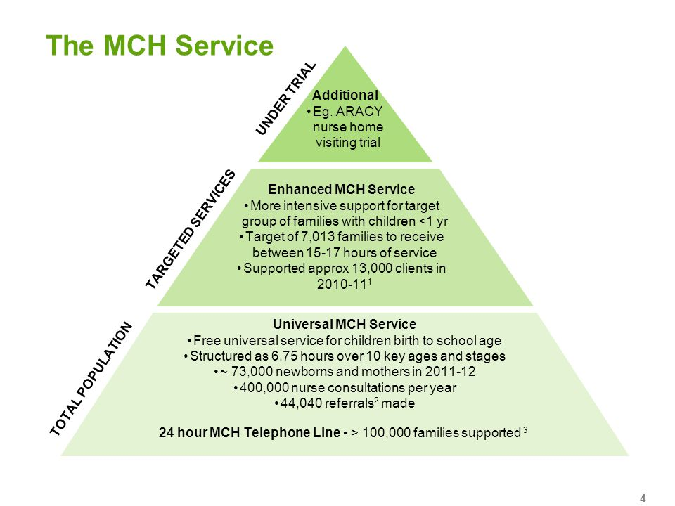 The MCH Service UNDER TRIAL Additional