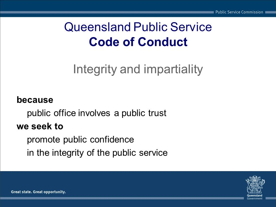 Queensland Public Service Code of Conduct