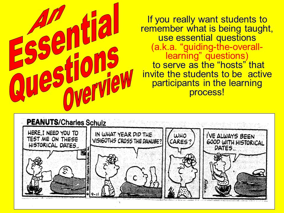 An Essential Questions Overview