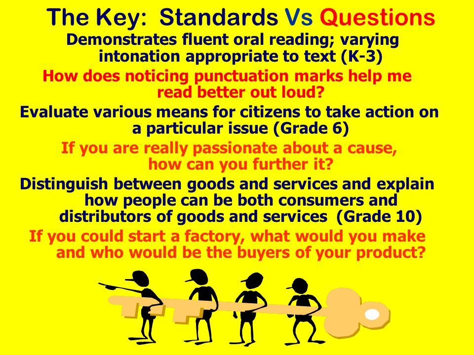 The Key: Standards Vs Questions