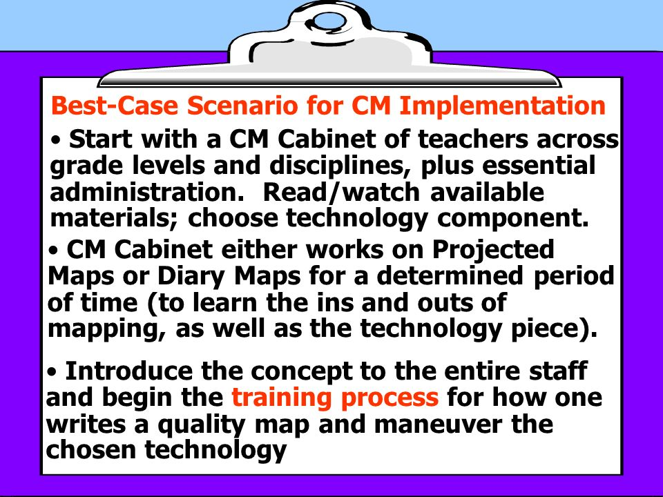 Best-Case Scenario for CM Implementation