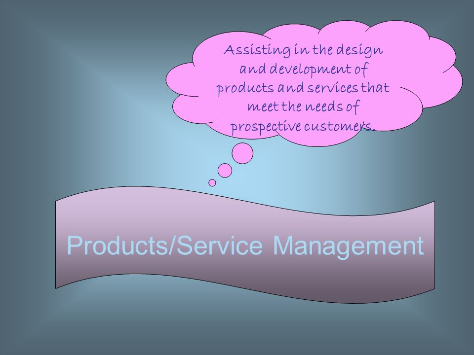 Products/Service Management