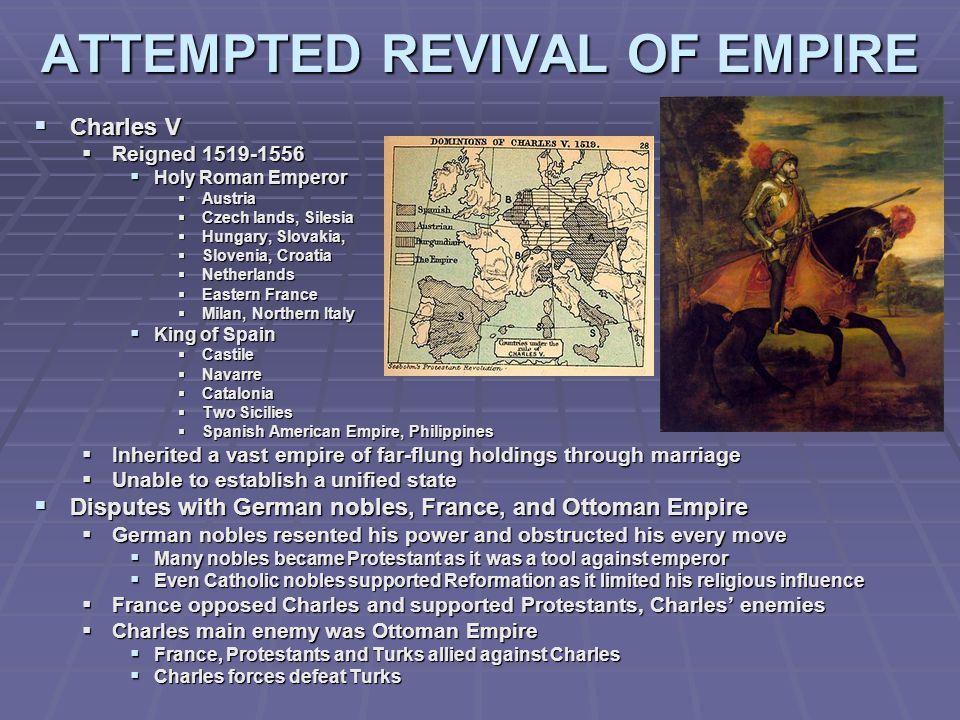 ATTEMPTED REVIVAL OF EMPIRE