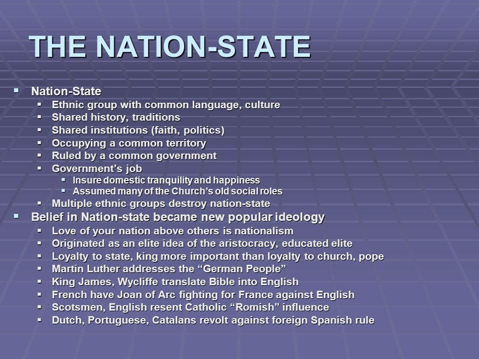 THE NATION-STATE Nation-State