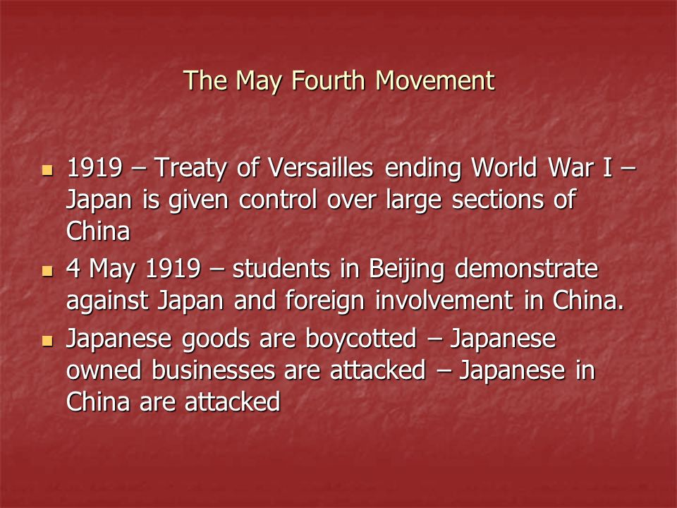 The May Fourth Movement