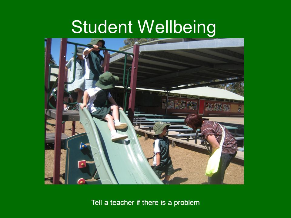 Student Wellbeing Tell a teacher if there is a problem