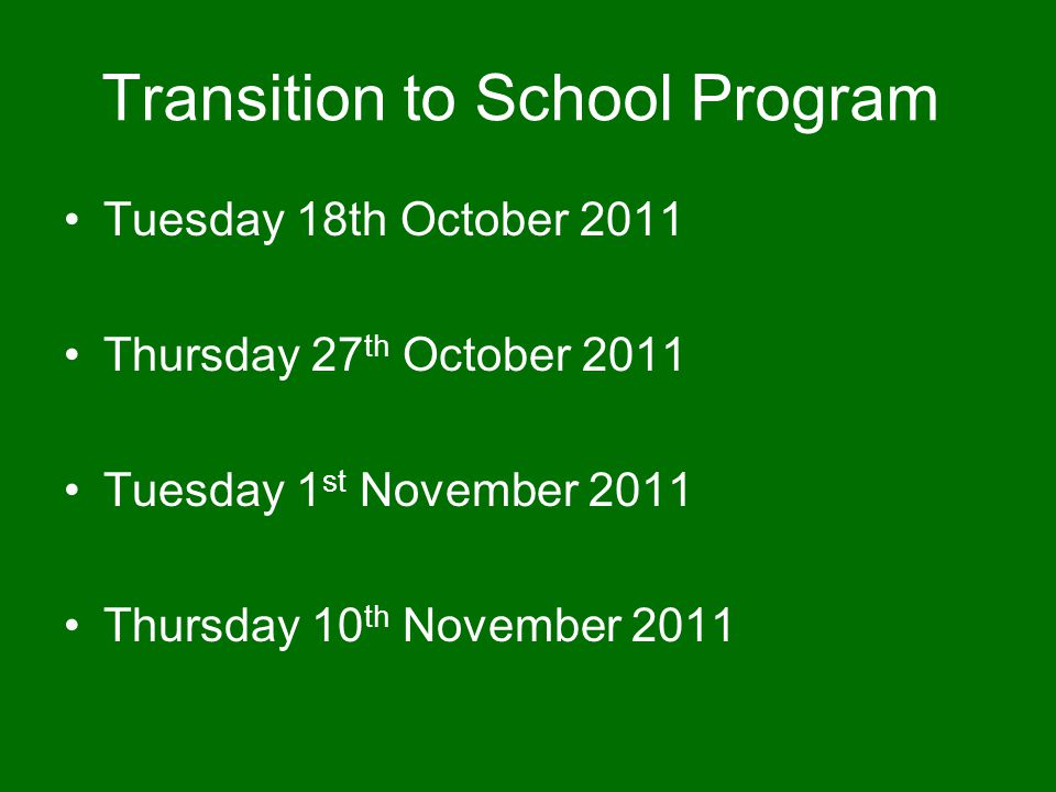 Transition to School Program