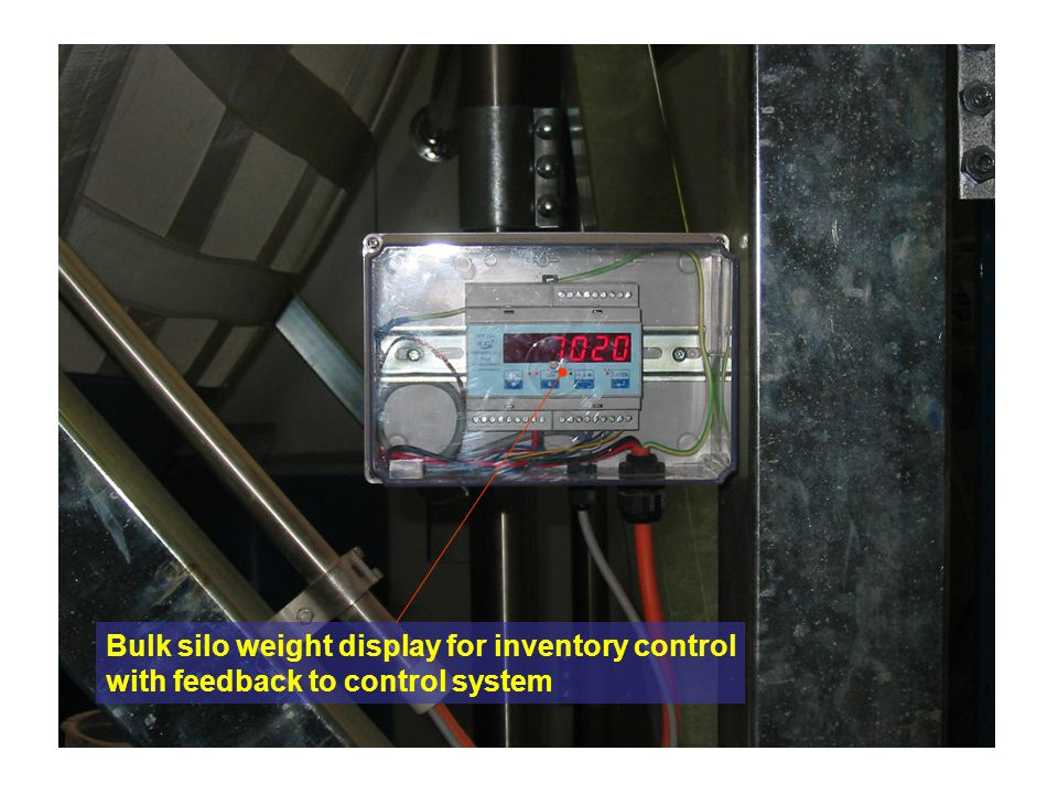 Bulk silo weight display for inventory control
