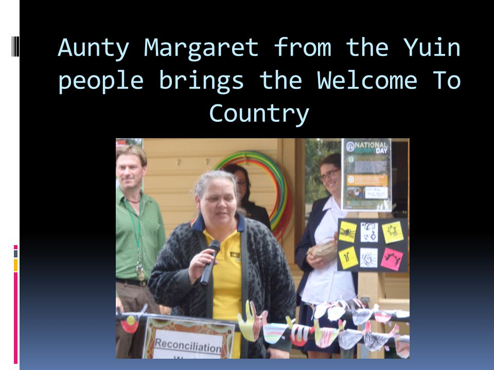 Aunty Margaret from the Yuin people brings the Welcome To Country