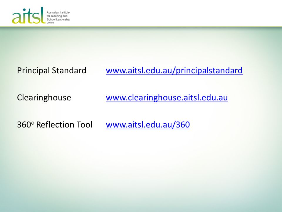 Principal Standard Clearinghouse 360o Reflection Tool