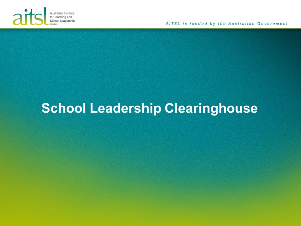School Leadership Clearinghouse