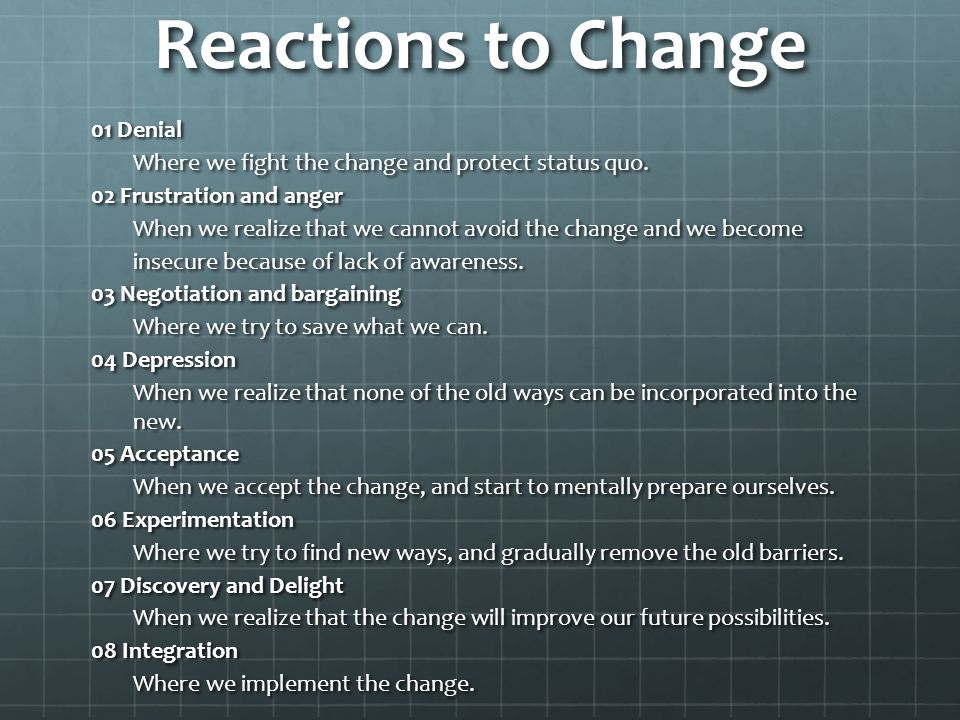 Reactions to Change